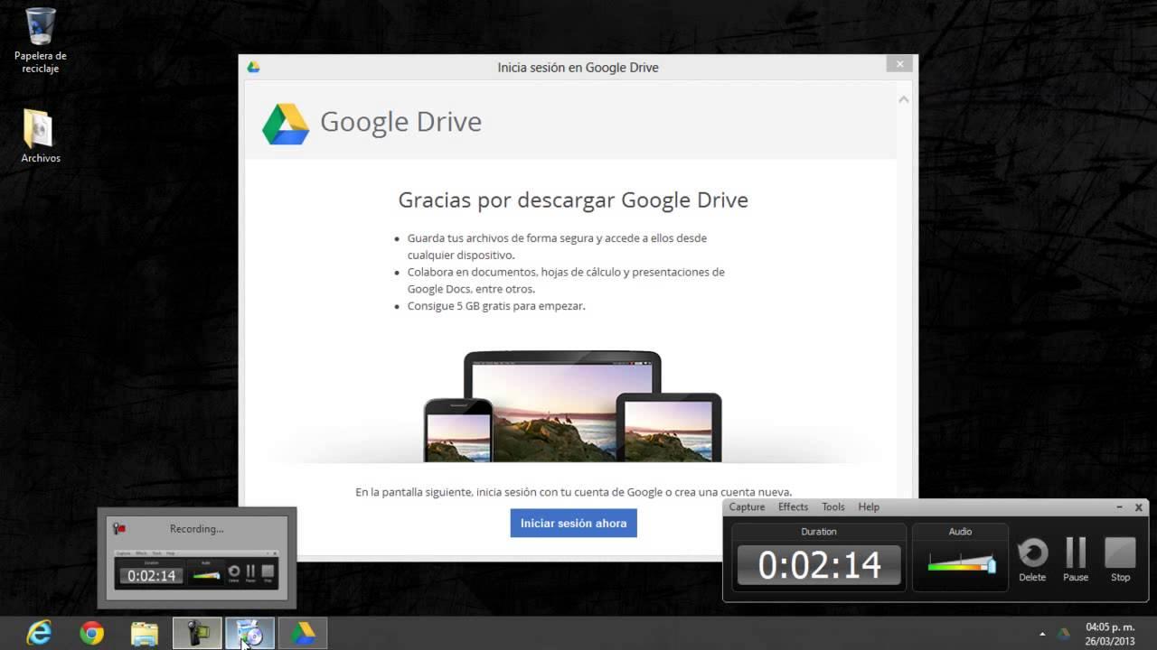 descargar e instalar google drive para windows youtube