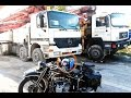 kids Truck video camiones MAN hormigonera excavadora. Mack Granite Cement Mixer CAT Construction