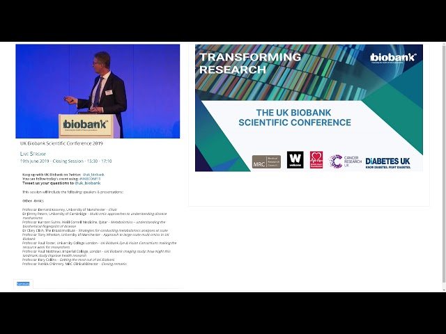Professor Paul Foster - UK Biobank Eye and Vision Consortium