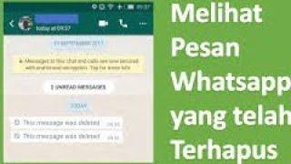 Cara Mengetahui Pesan Whatsapp Yang Dihapus Pengirim Sebelum Dibaca