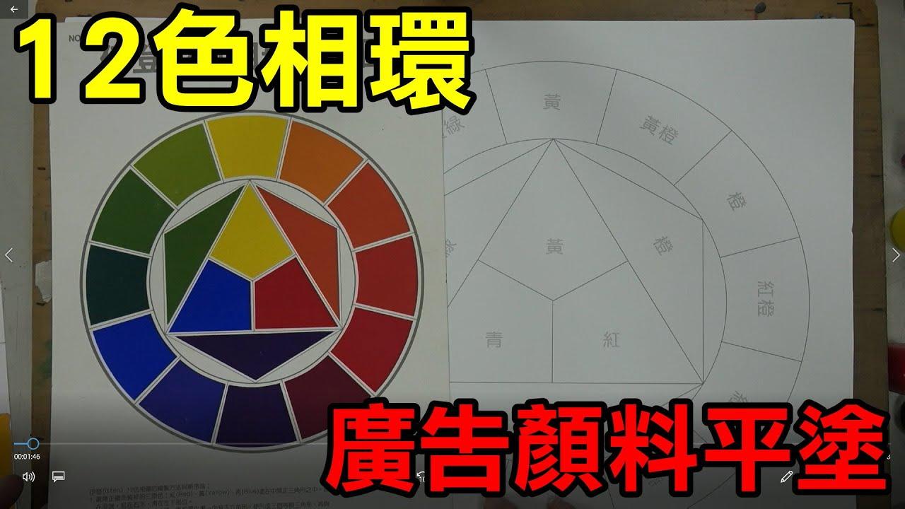 輕輕鬆鬆學美術(美勞)5--廣告顏料平塗12色相環/國小中年級適用