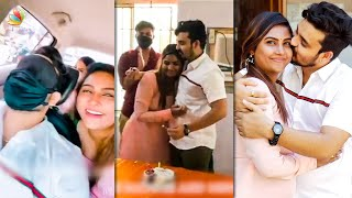 Full Video: Myna Nandhini's Emotional Surprise😱| Yogeshwaran Birthday, Vijay TV |  Tamil News