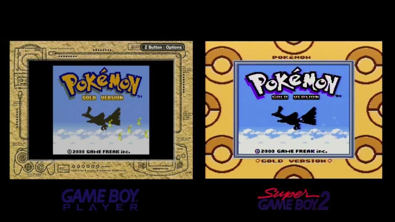 Game boy color palette - Pok Mon Gold Intro Game Boy Player Vs Super Game Boy 2