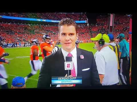 Football videos| ESPN reporter Sergio Dipp bombs during his Monday Night Football debut