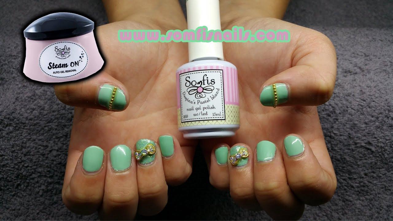 New Somfis gel polish - Mint Manicure - YouTube