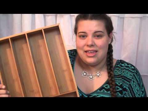 KD Organizers 6 Slot Bamboo Drawer Organizer Review #lakehouse