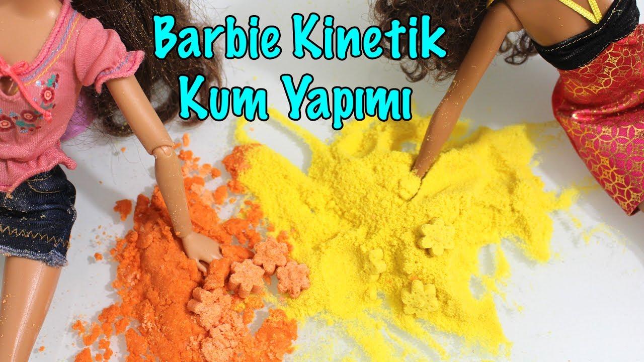 Çocuklar için kinetik kum yapımı