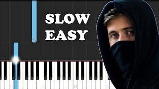 Download Alan Walker, K-391, Emelie Hollow - Lily (SLOW EASY PIANO TUTORIAL)