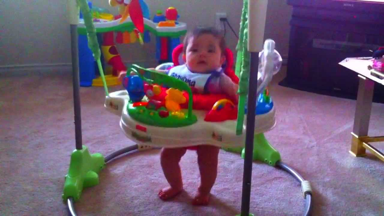 c2355d69276b Bouncing Baby Momo in her Rainforest Jumperoo by Fisher-Price - YouTube