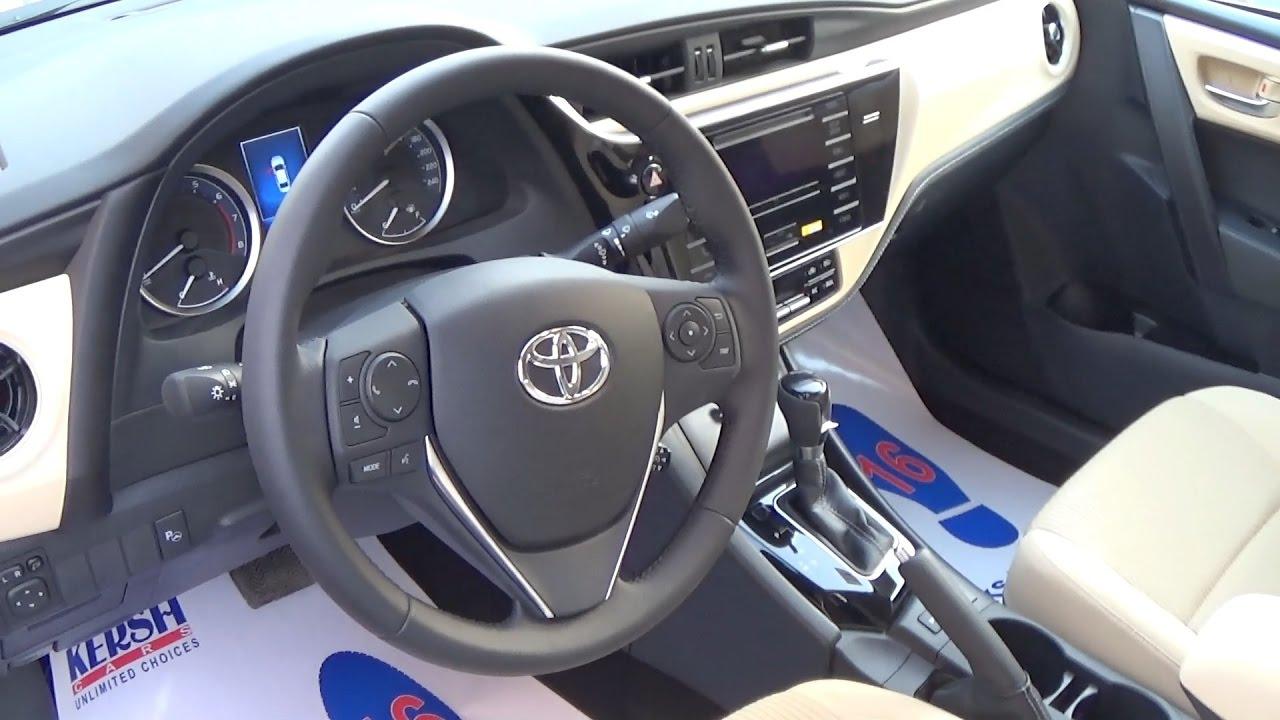 استعراض مواصفات تويوتا كورولا Toyota Corolla 2017 الفئه الثانيه