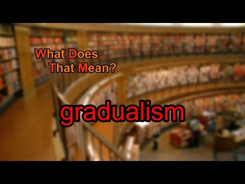 What does gradualism mean?