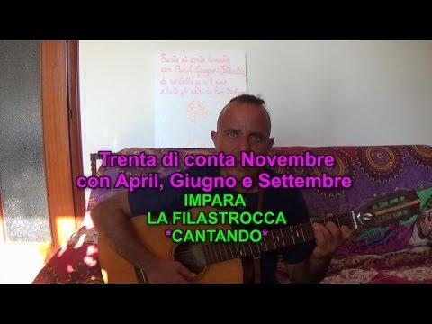 Filastrocca Canterina Trenta Dì Conta Novembre Con April Giugno