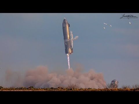 4K: SpaceX Starship SN10 10km Test Flight