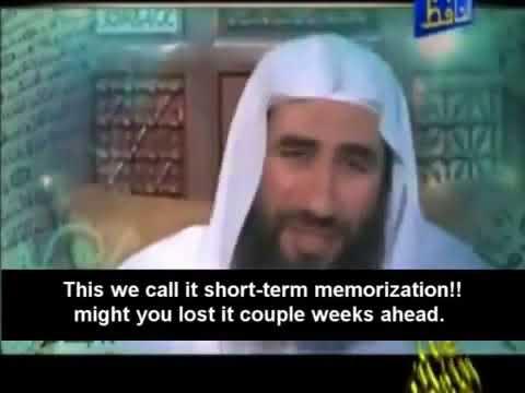 Easy way to memorize the Quran   Syaikh Wahid Abdus Salam Bali