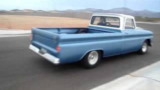 Pro Street 64 Chevy Pickup Driving and doing burnout