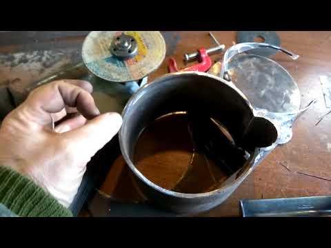 Тигель , форма , для плавки свинца своими руками часть 1