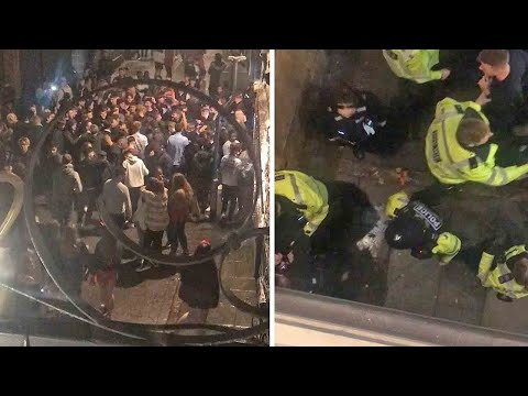 Nottingham students crowd outside bars hours before city enters Tier 3