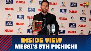 [BEHIND THE SCENES] Messi receives LaLiga 2017/18 top goal scorer award