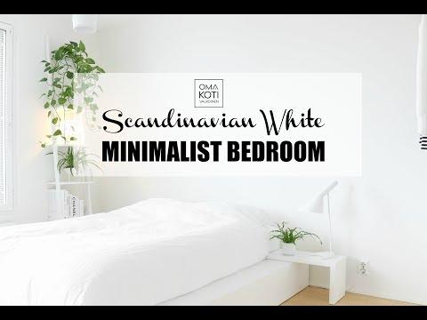 Scandinavian White Minimalist Bedroom