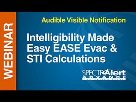 AV -- Webinar: Intelligibility Made Easy EASE Evac & STI Calculations