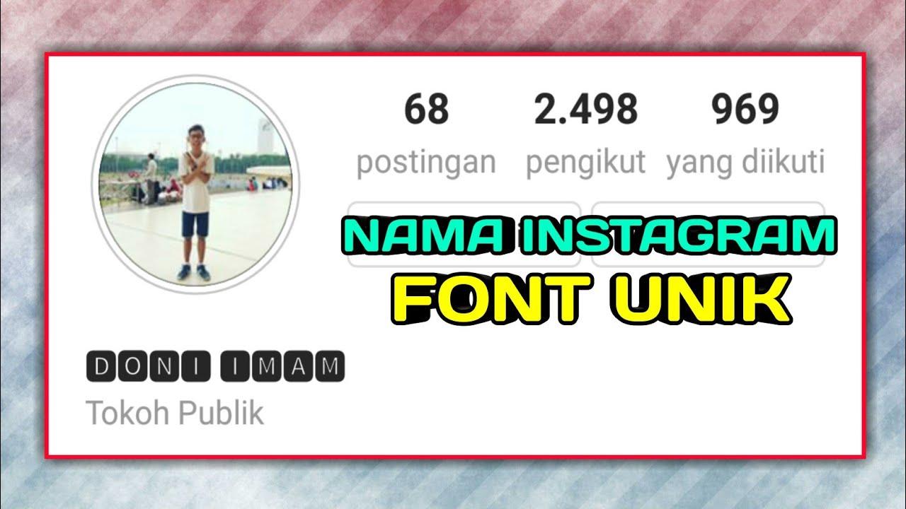 Cara Mengubah Nama Instagram Dengan Font Unik Dan Keren Youtube