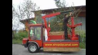 Gru manuale 900 kg - Installazione su furgone pickup motoagricole - shopdacanal.com