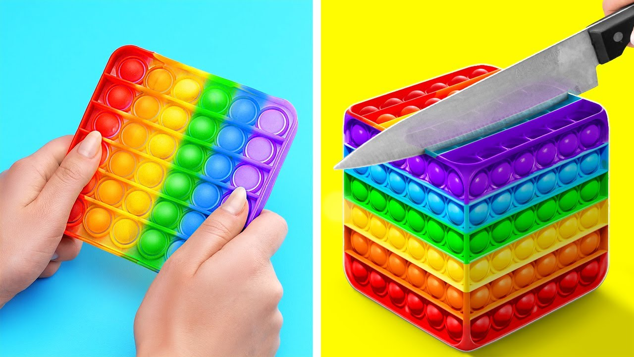 CAKE DECORATING CHALLENGE    DIY Satisfying Colorful Rainbow! Food Squid Game By 123 GO! TRENDS