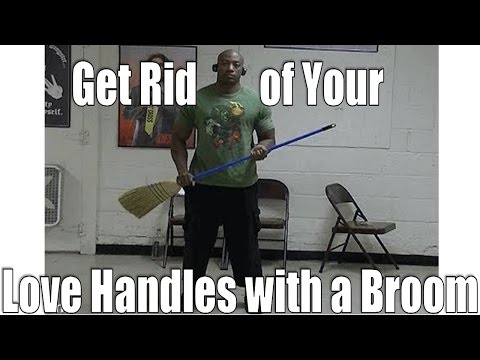 Lose Love Handles Fast with a broom (6min. Love Handle Workout)