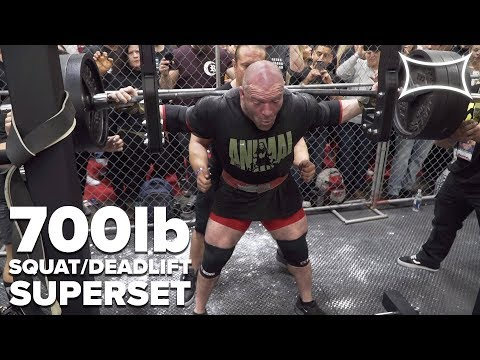 700lb Squat/Deadlift SUPERSET | As Many Reps As Possible! | Andrew Herbert @herbiethelouvbug