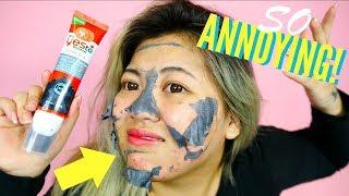MOST ANNOYING TOMATO CHARCOAL Peel Off Mask for ACNE!