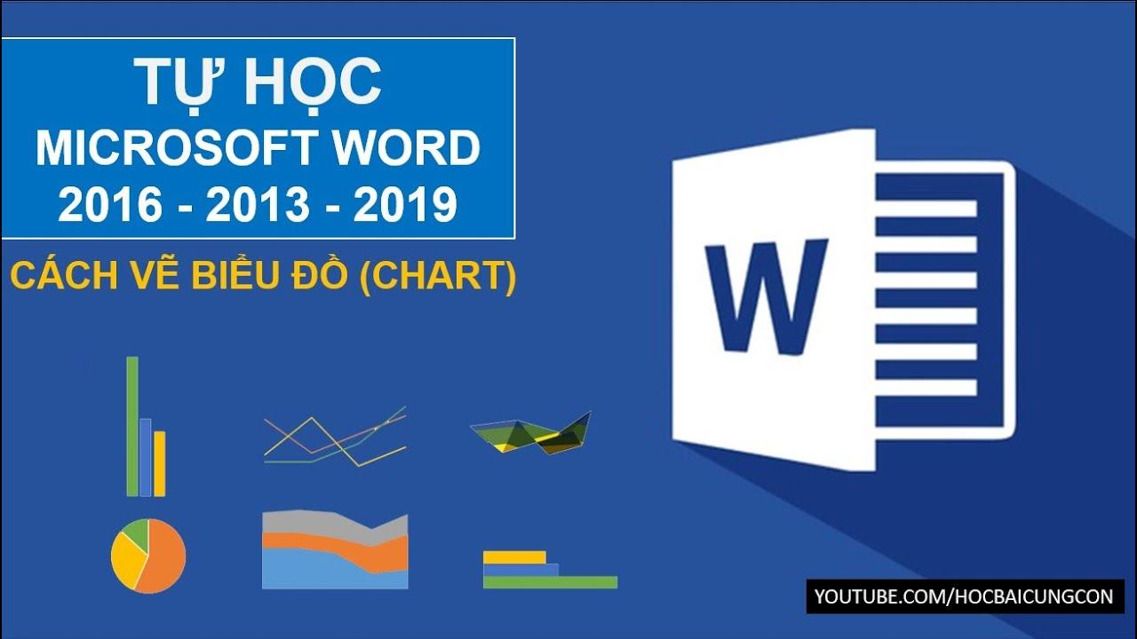 Cách vẽ biểu đồ trong Word 2016 (biểu đồ cột biểu đồ quạt biểu đồ đường gấp khúc)