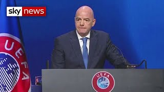 Super League: FIFA President, 'you cannot be half in or half out'