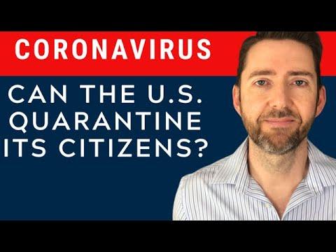 Can The U.S. Quarantine Its Citizens?