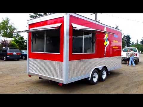 Custom Mobile 18ft Kitchen Concession Food Trailer