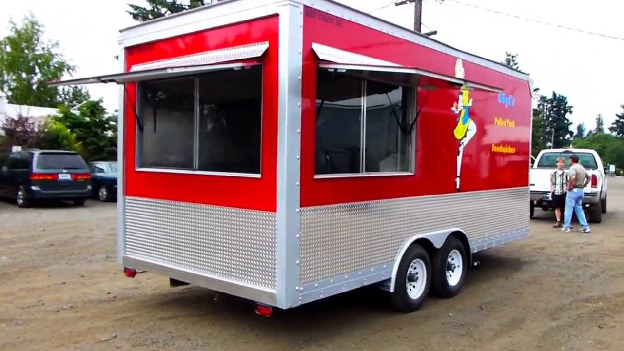 kitchen trailer updating cabinets custom mobile 18ft concession food youtube