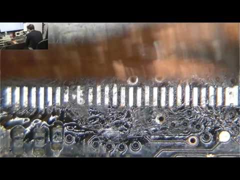 """""""Drag soldering to repair Macbook Pro LVDS connector."""" date:1-2-15"""