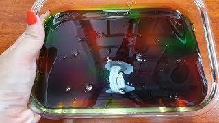 Thử Làm Slime Trong Galaxy Không Hồ và Borax  (Nước Rửa ChénTrong Suốt )