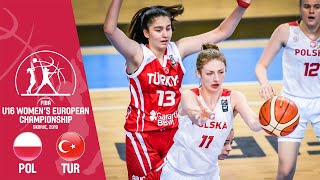 Poland V Turkey   Full GME   F BA U16 Womens European Championship 2019