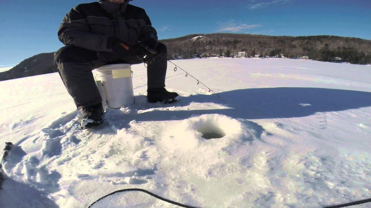 Léchauffement pour la pêche dhiver par les mains