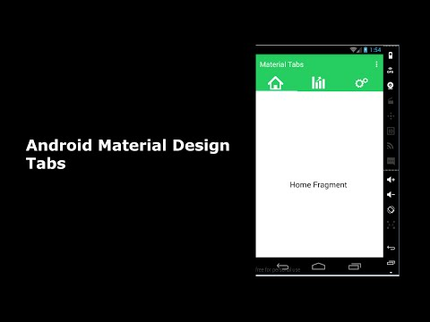 Android Material Design Tabs
