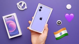 Purple iPhone 12 Unboxing for India 💜