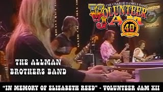 "The Allman Brothers Band performs ""In Memory of Elizabeth Reed"" at ..."