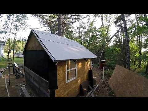 Putting Roof On Chicken Mansion & Cleaning Camper