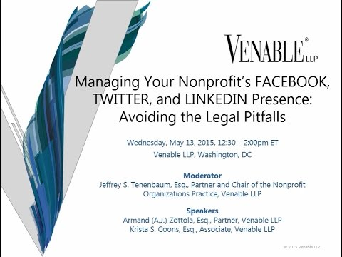 Managing Your Nonprofit's FACEBOOK, TWITTER, and LINKEDIN Presence - May 13, 2015