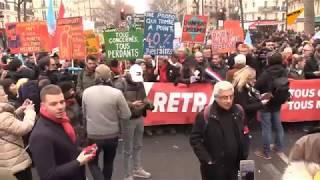Grève du 5 décembre: le cortège parisien s'apprête à s'élancer