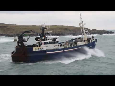 Three Cork Boats Leaving Ardglass