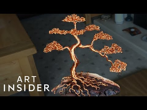 Making Bonsai By Bending Metal Wire | Master Craft