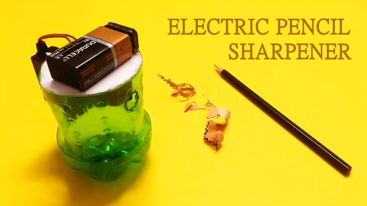 how to make electric pencil sharpener at home youtube