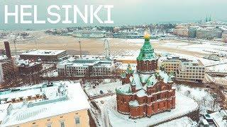 HELSINKI COVERED IN SNOW   Finland Vlog