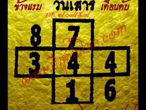 หวยเด็ดงวด ๑ สิงหาคม ๕๘ เลขเด็ดงวด ๑/๐๘/๕๘